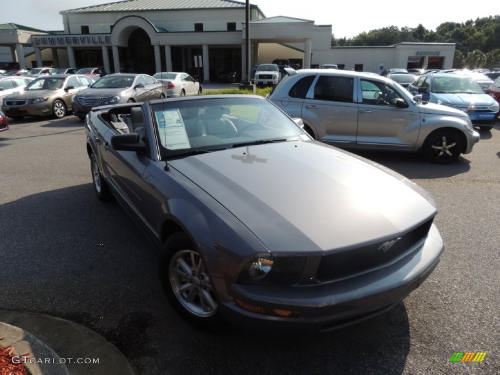 2007 Mustang V6 Deluxe Convertible - Satin Silver Metallic / Light Graphite photo #1
