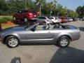 2007 Satin Silver Metallic Ford Mustang V6 Deluxe Convertible  photo #2