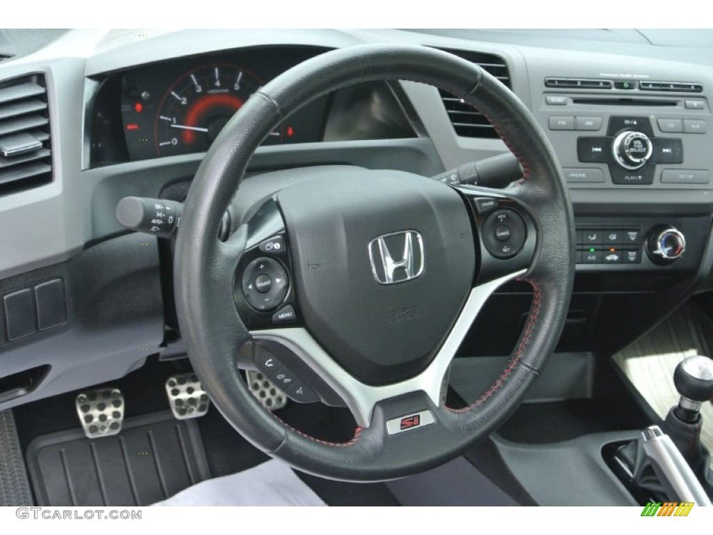 2012 honda civic si coupe steering wheel photos. Black Bedroom Furniture Sets. Home Design Ideas