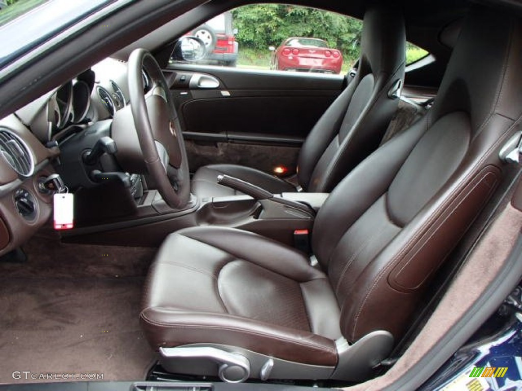 cocoa brown interior 2008 porsche cayman standard cayman model photo 82927701. Black Bedroom Furniture Sets. Home Design Ideas