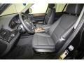 2014 BMW X3 Black Interior Front Seat Photo