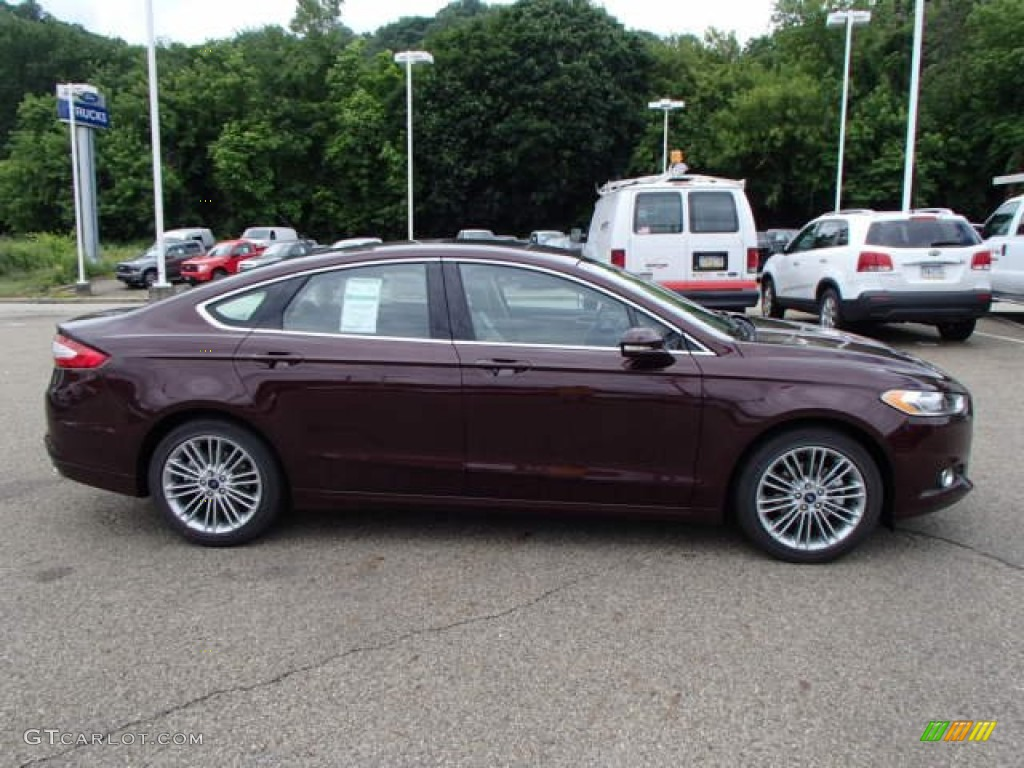 2013 Fusion SE 1.6 EcoBoost - Bordeaux Reserve Red Metallic / Dune photo #1