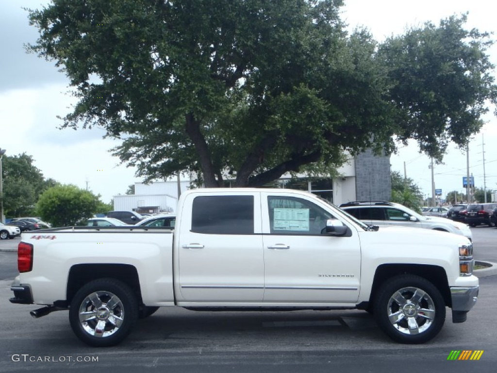 white diamond tricoat 2014 chevrolet silverado 1500 ltz crew cab 4x4 exterior photo 82971902. Black Bedroom Furniture Sets. Home Design Ideas