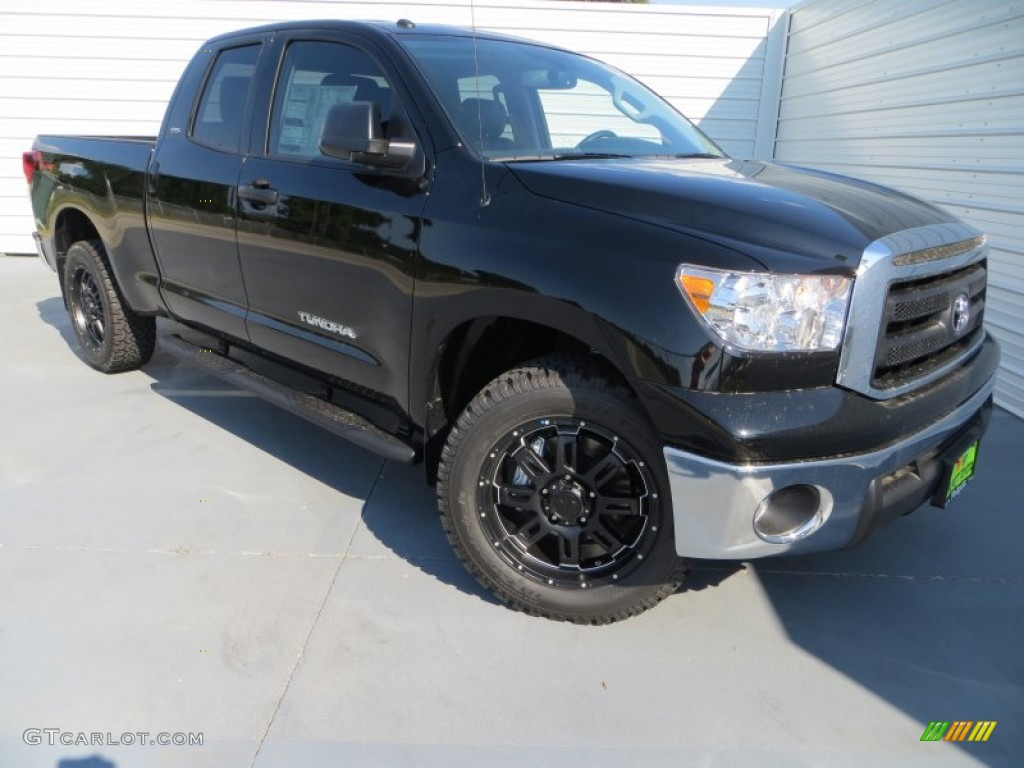 2013 Tundra TSS Double Cab - Black / Black photo #1