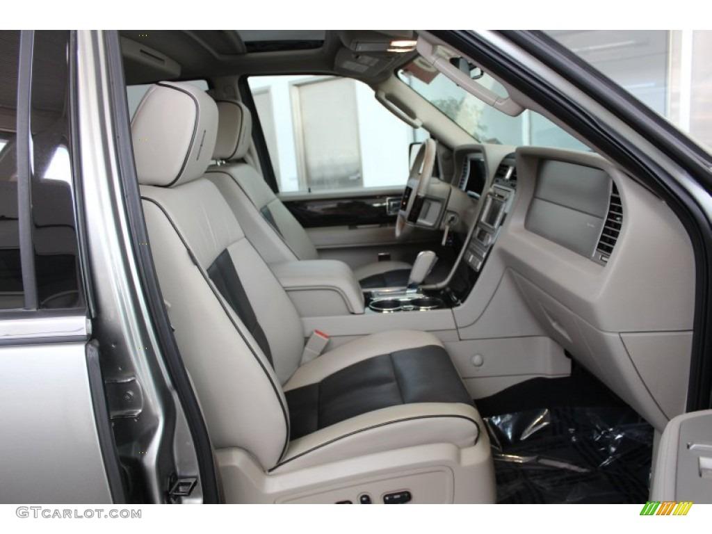 Stone Charcoal Black Interior 2008 Lincoln Navigator Luxury Photo 82981654