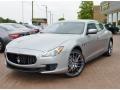 Grigio Metallo (Silver Metallic) 2014 Maserati Quattroporte GTS