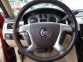 2009 Cadillac Escalade Cocoa/Cashmere Interior Steering Wheel Photo