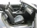 2009 Ford Mustang Black/Black Interior Front Seat Photo