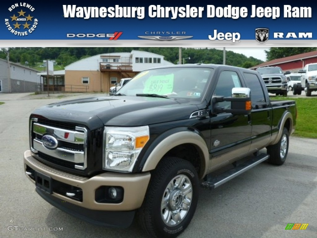 2012 F250 Super Duty King Ranch Crew Cab 4x4 - Black / Chaparral Leather photo #1