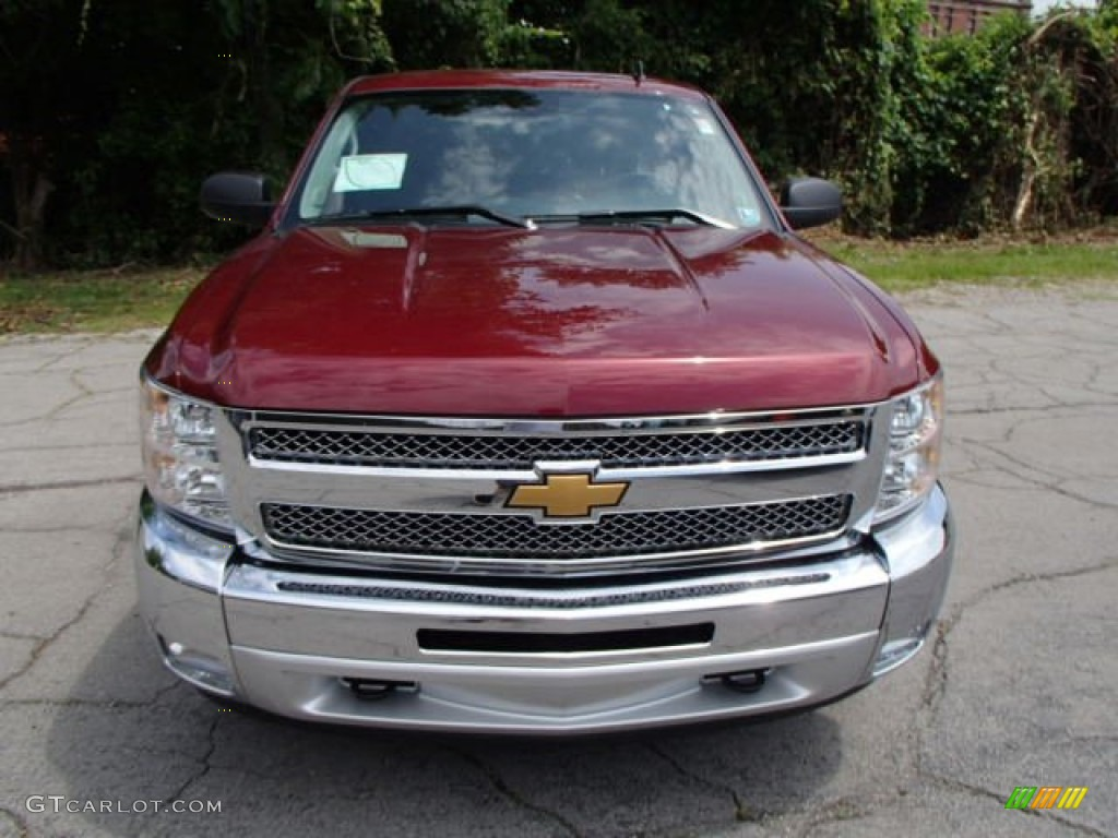 2013 Silverado 1500 LT Extended Cab 4x4 - Deep Ruby Metallic / Ebony photo #3