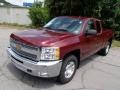 2013 Deep Ruby Metallic Chevrolet Silverado 1500 LT Extended Cab 4x4  photo #4