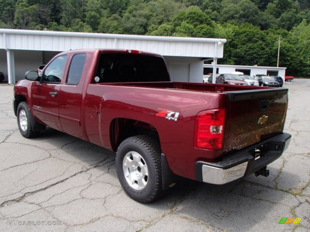 2013 Silverado 1500 LT Extended Cab 4x4 - Deep Ruby Metallic / Ebony photo #6