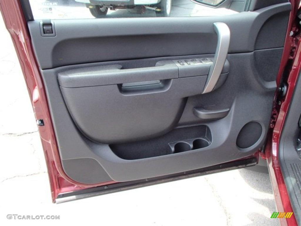 2013 Silverado 1500 LT Extended Cab 4x4 - Deep Ruby Metallic / Ebony photo #11