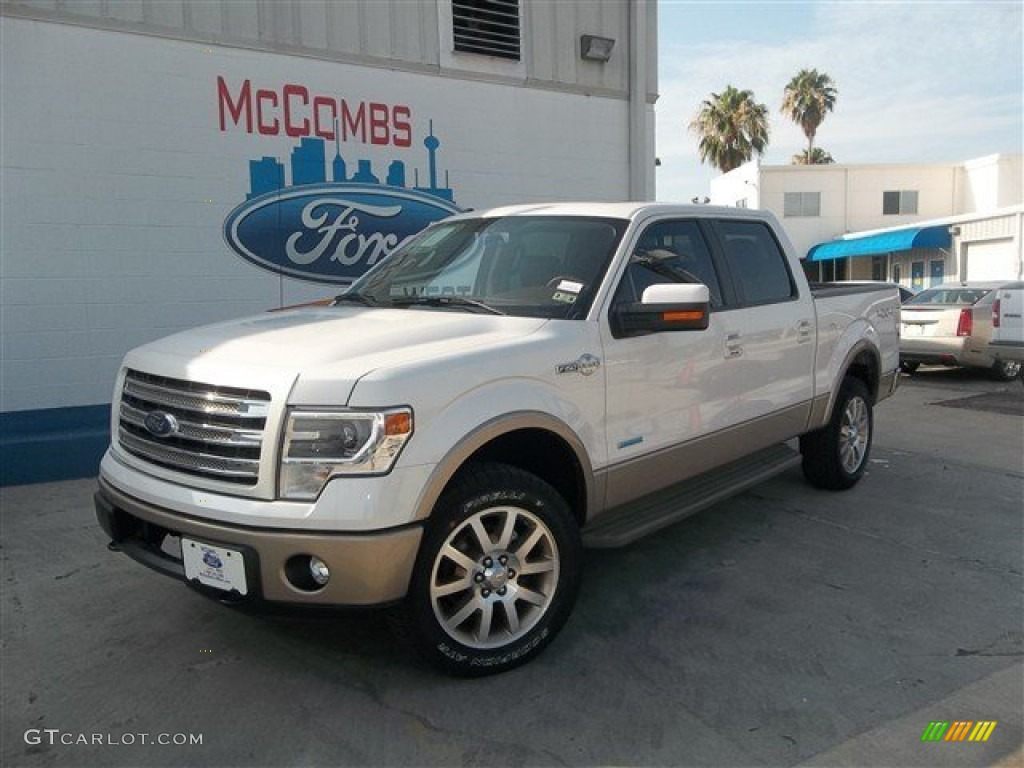 2013 white platinum metallic tri coat ford f150 king ranch supercrew 4x4 83070684 gtcarlot. Black Bedroom Furniture Sets. Home Design Ideas