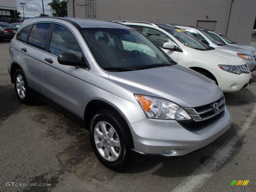 2011 CR-V SE 4WD - Alabaster Silver Metallic / Gray photo #1