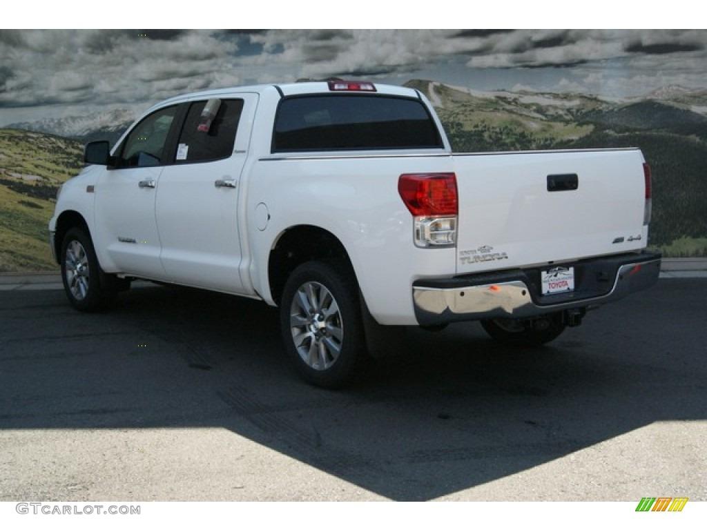 2013 Tundra Platinum CrewMax 4x4 - Super White / Black photo #2