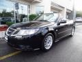 Black 2009 Saab 9-3 2.0T Convertible