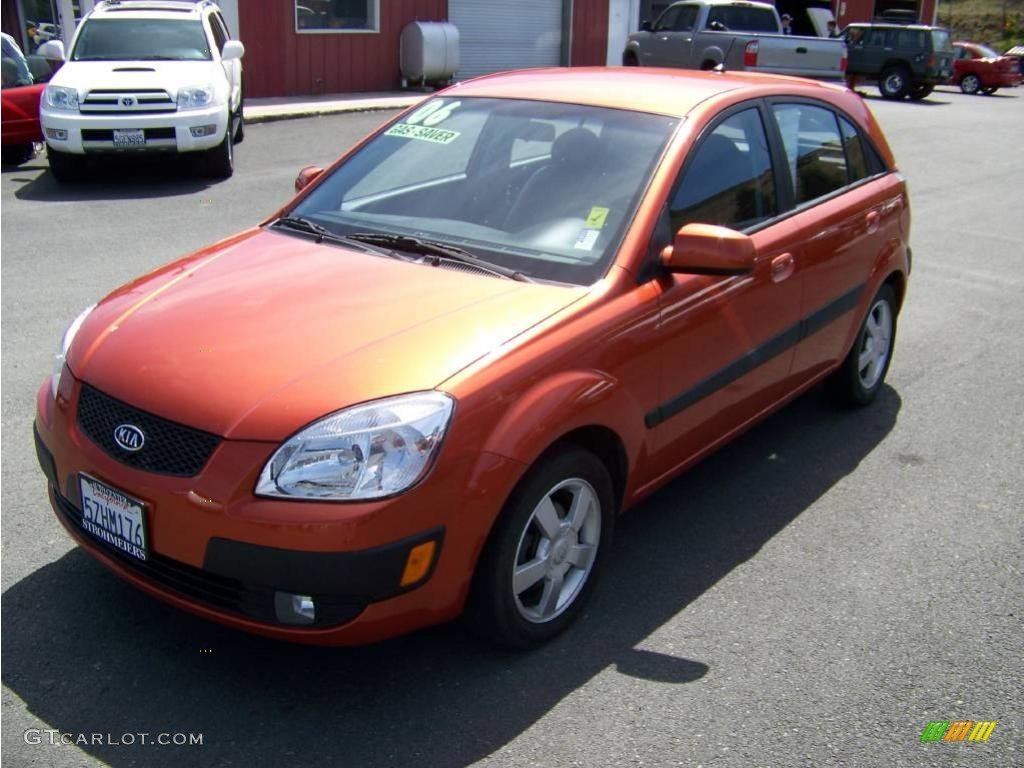 2006 tropical red kia rio rio5 sx hatchback 8304396. Black Bedroom Furniture Sets. Home Design Ideas