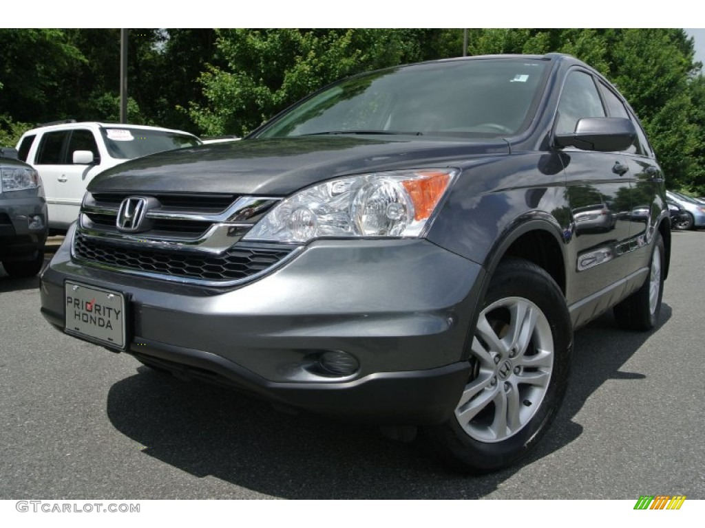 2011 CR-V EX-L - Polished Metal Metallic / Black photo #1