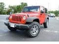 2012 Flame Red Jeep Wrangler Sport 4x4  photo #1