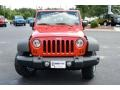 2012 Flame Red Jeep Wrangler Sport 4x4  photo #2