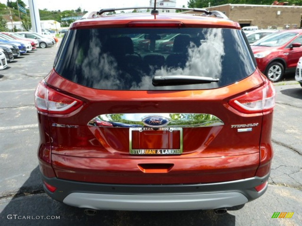 2014 Escape Titanium 1.6L EcoBoost 4WD - Sunset / Charcoal Black photo #3