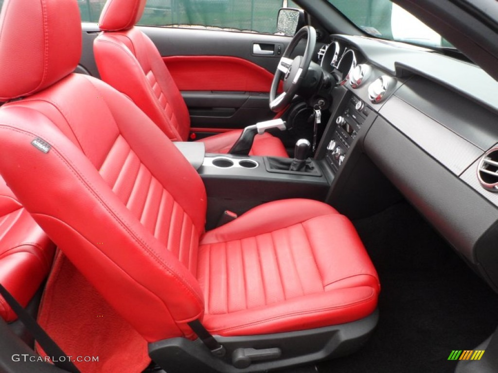 Red Dark Charcoal Interior 2006 Ford Mustang Gt Premium Convertible Photo 83187983