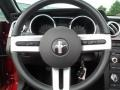 2006 Ford Mustang Red/Dark Charcoal Interior Steering Wheel Photo