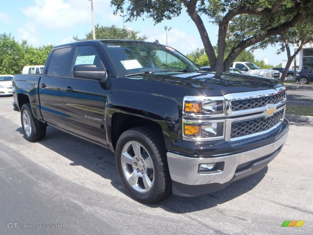 2014 black chevrolet silverado 1500 lt crew cab 83206563 car color galleries. Black Bedroom Furniture Sets. Home Design Ideas