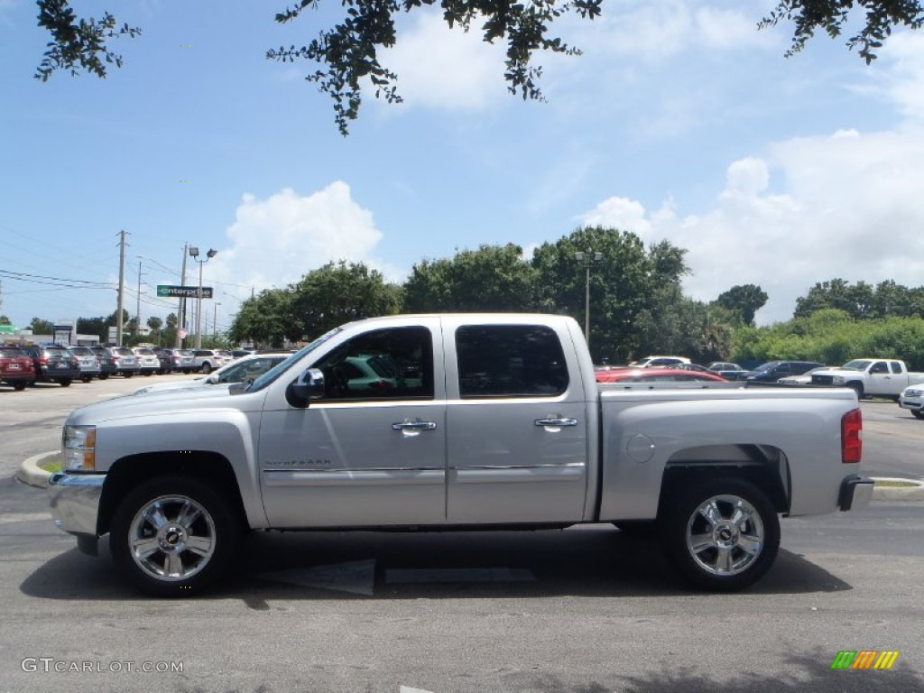 2013 Silverado 1500 LT Crew Cab - Silver Ice Metallic / Ebony photo #5