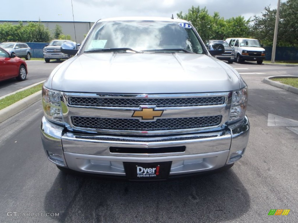 2013 Silverado 1500 LT Crew Cab - Silver Ice Metallic / Ebony photo #6