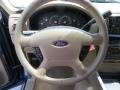 2005 Ford Explorer Medium Parchment Interior Steering Wheel Photo