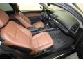 2009 BMW 1 Series Terracotta Interior Front Seat Photo