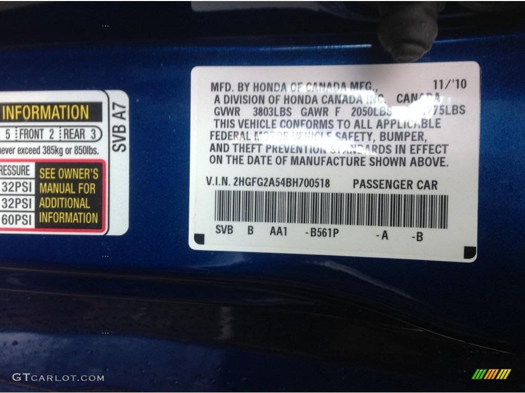 2011 Honda Civic Si Coupe Color Code Photos Gtcarlot Com