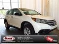 2013 White Diamond Pearl Honda CR-V LX  photo #1