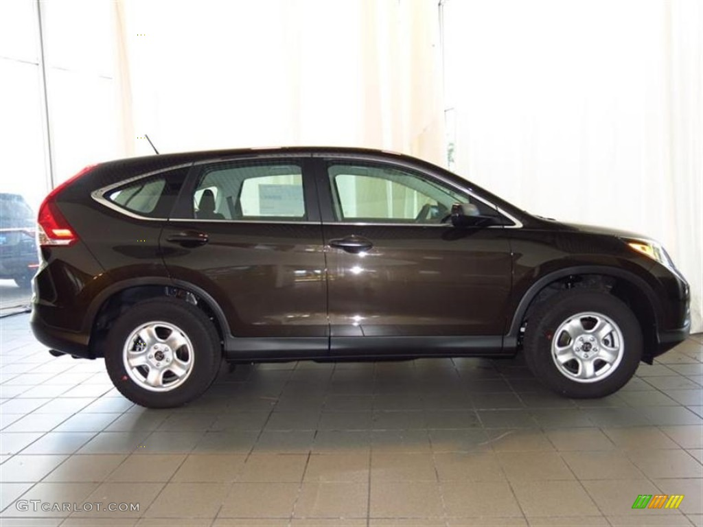 2013 CR-V LX - Kona Coffee Metallic / Black photo #2