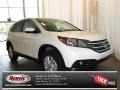 2013 White Diamond Pearl Honda CR-V EX  photo #1