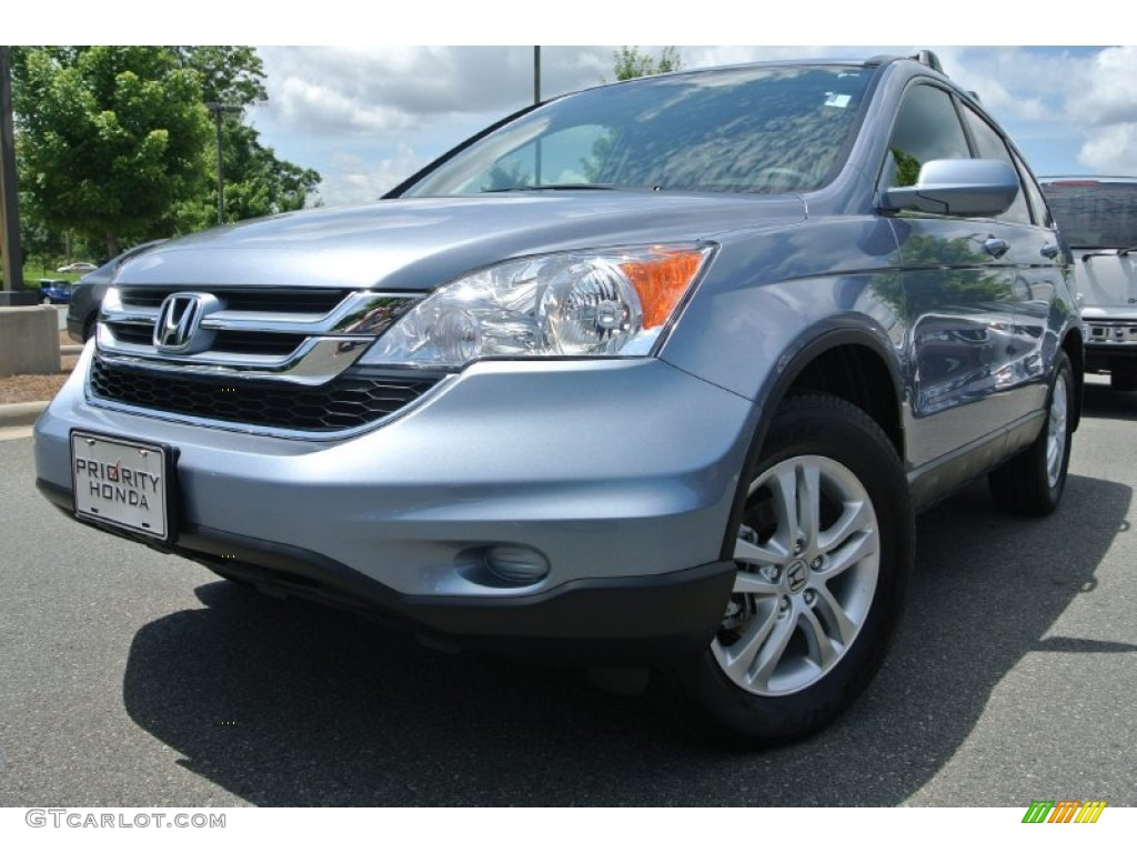 2011 CR-V EX-L - Glacier Blue Metallic / Gray photo #1