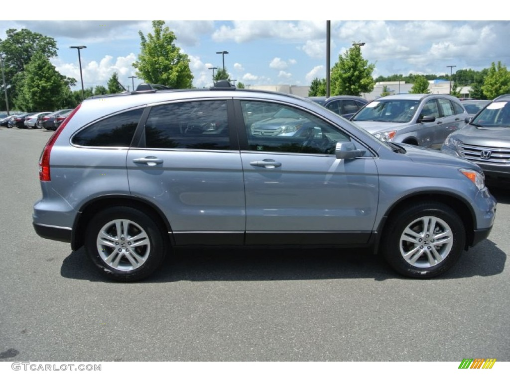 2011 CR-V EX-L - Glacier Blue Metallic / Gray photo #6