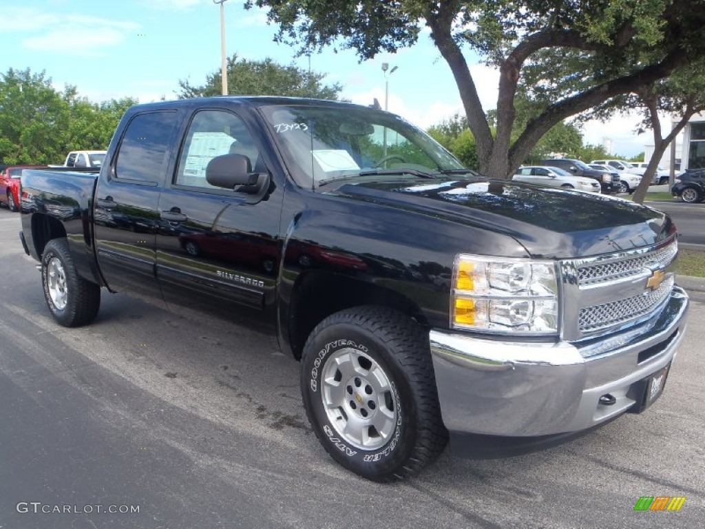 2013 Silverado 1500 LT Crew Cab 4x4 - Black / Light Titanium/Dark Titanium photo #1