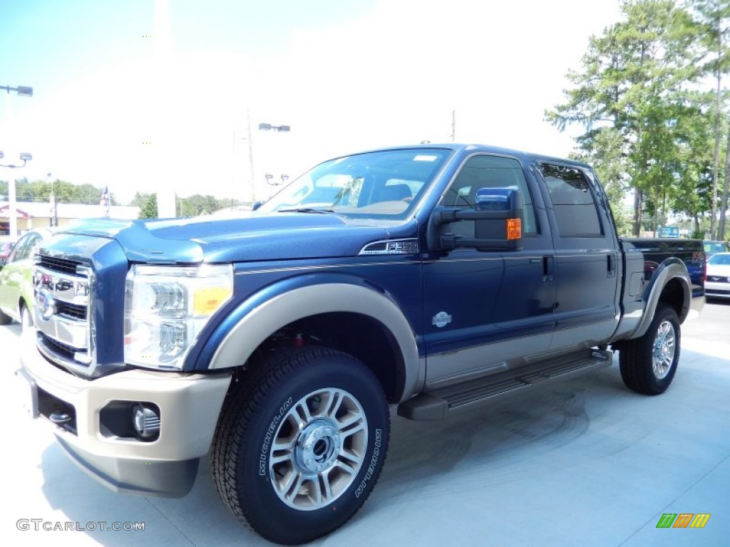 2013 Blue Jeans Metallic Ford F350 Super Duty King Ranch Crew Cab 4x4 83263226