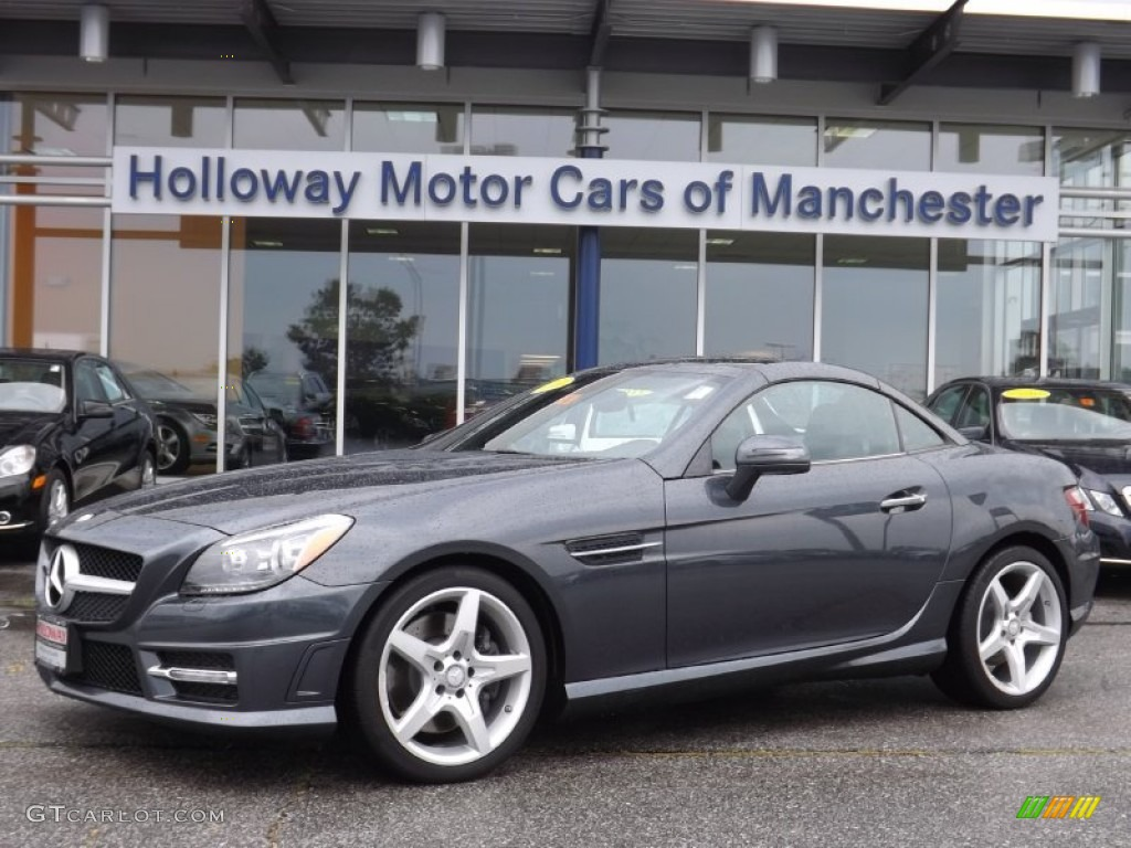 Steel grey metallic mercedes benz slk