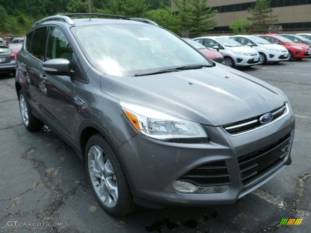 2014 Escape Titanium 2.0L EcoBoost 4WD - Sterling Gray / Medium Light Stone photo #1