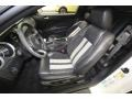 2010 Ford Mustang Charcoal Black/White Interior Front Seat Photo