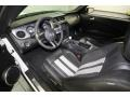 2010 Ford Mustang Charcoal Black/White Interior Prime Interior Photo