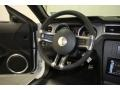 2010 Ford Mustang Charcoal Black/White Interior Steering Wheel Photo