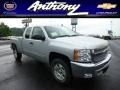 2013 Silver Ice Metallic Chevrolet Silverado 1500 LT Extended Cab 4x4  photo #1