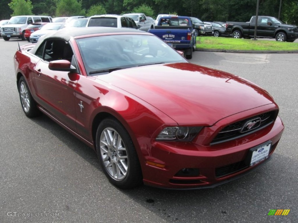 2014 ruby red ford mustang v6 premium convertible. Black Bedroom Furniture Sets. Home Design Ideas