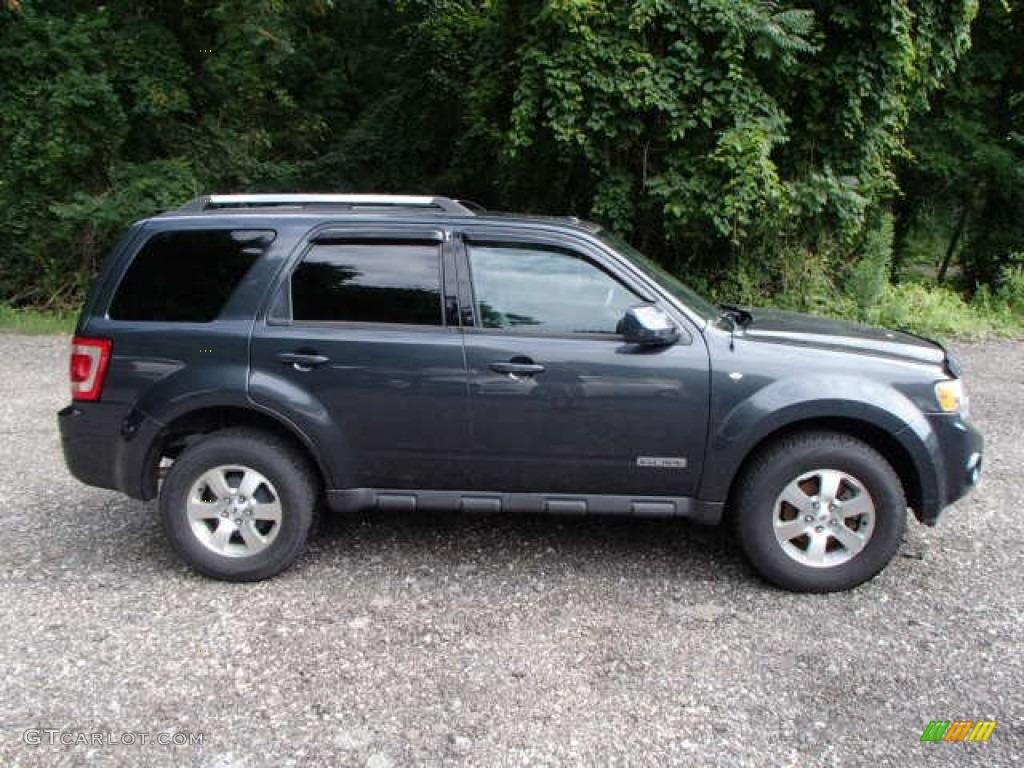 Black pearl slate metallic 2008 ford escape limited 4wd