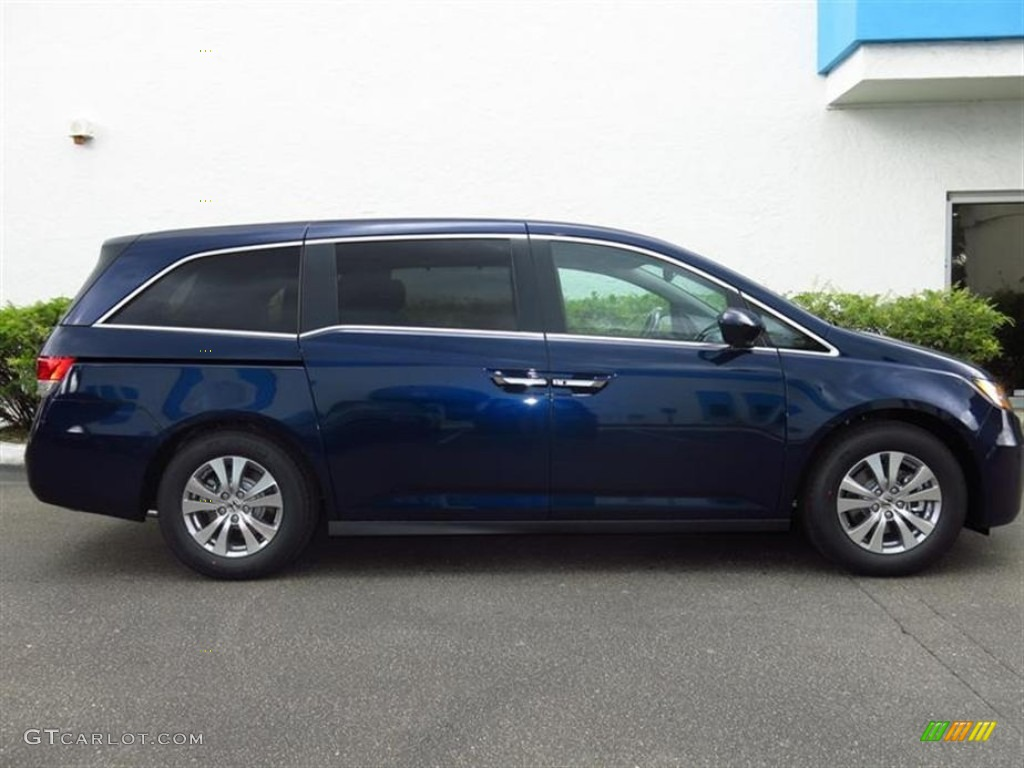 obsidian blue pearl 2014 honda odyssey ex l exterior photo 83344231. Black Bedroom Furniture Sets. Home Design Ideas